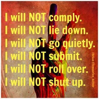 I will not