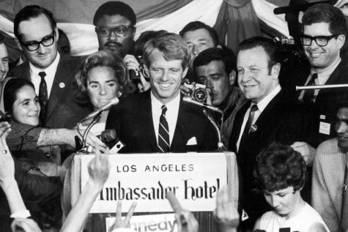 RFK at Ambassador with Rosey