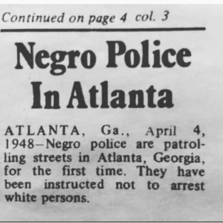 Negro Police in Atlanta 1948