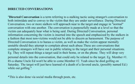 Directed Conversations