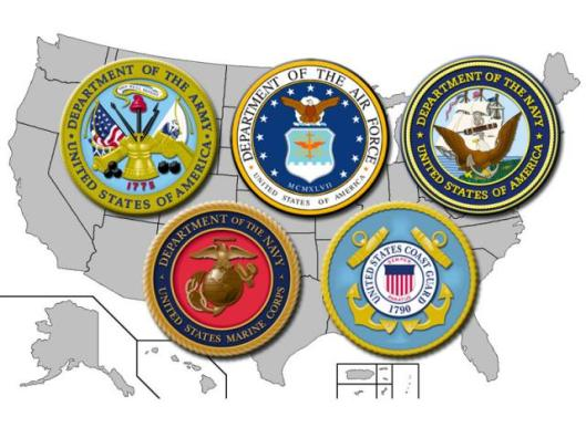 Miltary Branch Map