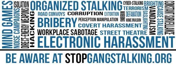 Organized stalking banner