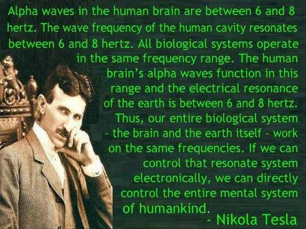 Alpha waves and Tesla