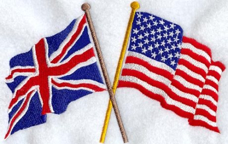 British and american Flag