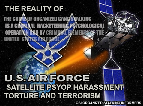 US AIR FORCE SATELLITE PSYOP TERRORISM POSTER